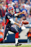 13 November 2005: Buffalo Bills punter Brian Moorman releases the ball for a fourth down kick against the Kansas City Chiefs at Ralph Wilson Stadium in Orchard Park, NY. The Bills defeated the Chiefs 14-3. ..Mandatory Photo Credit: Ed Wolfstein