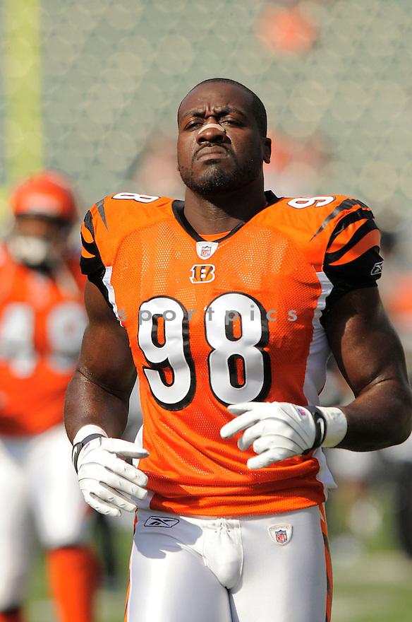 ANTWAN ODOM, of the Cincinnati Bengals, in action against the Jacksonville Jaguars during the Bengals game in Cincinnati, OH on Novmeber 12, 2008. ..Bengals win 21-19