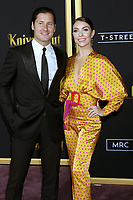 "LOS ANGELES - NOV 14:  Valentin Chmerkovskiy, Jenna Johnson at the ""Knives Out"" Premiere at Village Theater on November 14, 2019 in Westwood, CA"