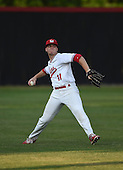 Lake Mary Rams outfielder John Radetsky (11) during practice before a game against the Lake Brantley Patriots on April 2, 2015 at Allen Tuttle Field in Lake Mary, Florida.  Lake Brantley defeated Lake Mary 10-5.  (Mike Janes Photography)