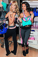 NEW YORK, NY - OCTOBER 22: Lindsay Ellingson and Lily Aldridge Celebrate The Launch Of The World's Best Sport Bras From Victoria's Secret Sport at Victoria's Secret, Lexington Avenue on October 22, 2013 in New York City. (Photo by Jeffery Duran/Celebrity Monitor)