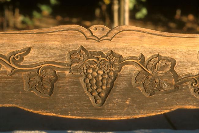 Bench at Robert Mondave winery