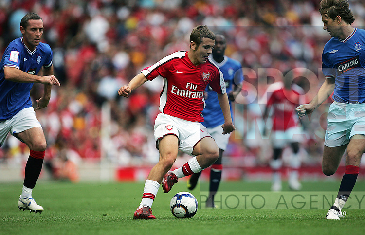 Jack Wilshere of Arsenal in action