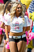 October 02, 2011:   Jacksonville Jaguars cheerleaders before the start of action between the Jacksonville Jaguars and the New Orleans Saints at EverBank Field in Jacksonville, Florida.  New Orleans defeated Jacksonville 23-10.........