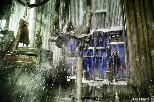 Russian workers at a drilling well in Arctic Siberia, Russia, which has the world's largest gas deposit.