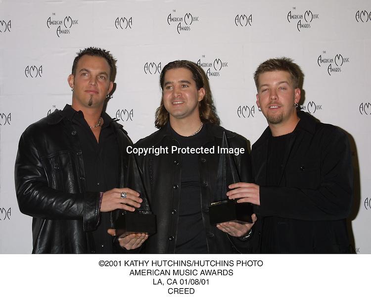 ©2001 KATHY HUTCHINS/HUTCHINS PHOTO.AMERICAN MUSIC AWARDS.LA, CA 01/08/01.CREED