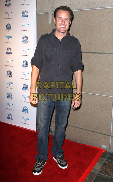 "CHRIS HARRISON .Shawne Merriman's 3rd Annual ""Lights ON Bowl"" Charity Event held at The Lucky Strike Lanes, Hollywood, California, USA, .01 December 2008..full length jeans grey gray shirt trainers black sneakers .CAP/ADM/KB.©Kevan Brooks/Admedia/Capital PIctures"