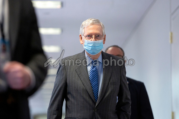 United States Senate Majority Leader Mitch McConnell (Republican of Kentucky) walks to the Senate GOP Policy Luncheons at the Hart Senate Office Building  in Washington D.C., U.S., on Wednesday, May 20, 2020.  Credit: Stefani Reynolds / CNP/AdMedia