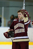 Ben Smith (BC - 12) - The Merrimack College Warriors defeated the Boston College Eagles 5-3 on Sunday, November 1, 2009, at Lawler Arena in North Andover, Massachusetts splitting the weekend series.