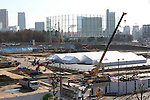 A view of the site for the new National Stadium for the Tokyo 2020 Olympic Games on December 6, 2016, Tokyo, Japan.<br /> (Photo by Hiroyuki Ozawa/AFLO)