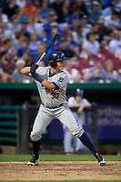 West Michigan Whitecaps third baseman Colby Bortles (30) at bat during a game against the Kane County Cougars on July 19, 2018 at Northwestern Medicine Field in Geneva, Illinois.  Kane County defeated West Michigan 8-5.  (Mike Janes/Four Seam Images)