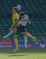 Preston North End's Sean Maguire (right) battles with Norwich City's Mario Vrancic (left) <br /> <br /> Photographer David Horton/CameraSport<br /> <br /> The EFL Sky Bet Championship - Norwich City v Preston North End - Saturday 19th September 2020 - Carrow Road - Norwich<br /> <br /> World Copyright © 2020 CameraSport. All rights reserved. 43 Linden Ave. Countesthorpe. Leicester. England. LE8 5PG - Tel: +44 (0) 116 277 4147 - admin@camerasport.com - www.camerasport.com
