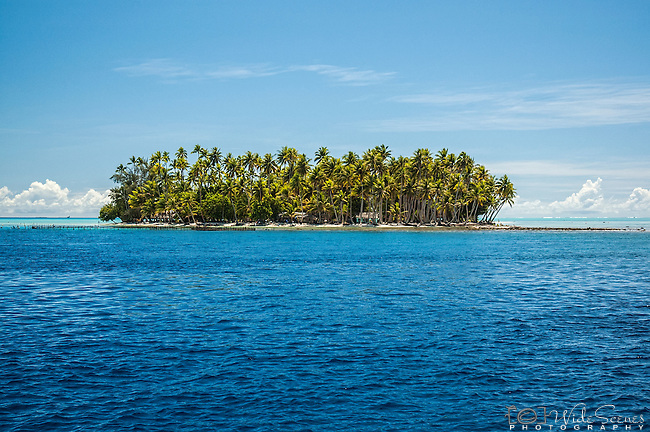 Motu in lagoon, Raiatea, French Polynesia