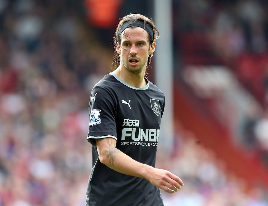 Burnley's George Boyd in action during todays match  <br /> <br /> Photographer Kieran Galvin/CameraSport<br /> <br /> Football - Barclays Premiership - Crystal Palace v Burnley - Saturday 13th September 2014 - Selhurst Park - London<br /> <br /> &copy; CameraSport - 43 Linden Ave. Countesthorpe. Leicester. England. LE8 5PG - Tel: +44 (0) 116 277 4147 - admin@camerasport.com - www.camerasport.com