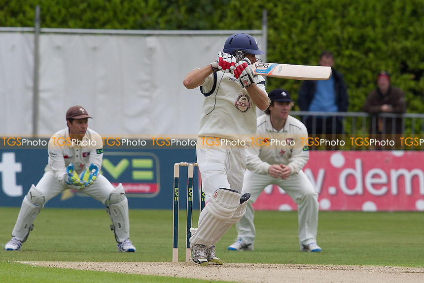Simon Katich, Hampshire CCC drives square of the wicket on the off side - Kent CCC vs Hampshire CCC - LV County Championship Division Two Cricket at The Nevill Ground, Tunbridge Wells - 06/06/12 - MANDATORY CREDIT: Ray Lawrence/TGSPHOTO - Self billing applies where appropriate - 0845 094 6026 - contact@tgsphoto.co.uk - NO UNPAID USE.