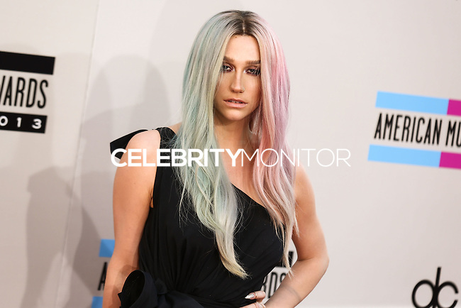 LOS ANGELES, CA - NOVEMBER 24: Ke$ha arriving at the 2013 American Music Awards held at Nokia Theatre L.A. Live on November 24, 2013 in Los Angeles, California. (Photo by Celebrity Monitor)