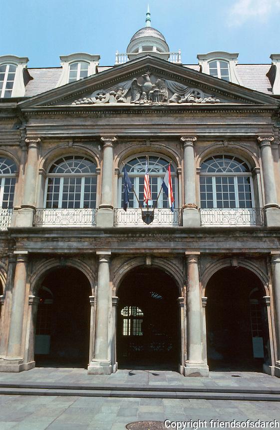 New Orleans:  Cabildo 1795-99.  Mansard roof, 1847.