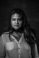 PATRICIA TORRES LINARES, 33, stands for a portrait on July 14, 2016 in Mexico City,  Mexico.<br /> A decade after two-dozen women were sexually assaulted and beaten by police following protests outside of Mexico City, an international human rights commission is demanding a full investigation into the officials responsible for the incident and its potential cover-up, including the president of the country, Enrique Pena Nieto, who was the state governor at the time.<br /> Patricia was a political science student at UNAM when she was detained and arrested in Atenco. Her thesis was based no the social movement that was protesting and resisting against the construction of an airport in Atenco. She was there the night of the 3rd and in the early morning of May 4th she heard and saw thousands of police men marching into the city, banging their batons, the sirens went off and the tear gas was sprayed. <br /> She went inside a house to hide, where she found another 16 people or so hiding. Then police officers went in and started interrogating everyone, asking for names, addresses, threatening them to kill and rape them, and making misogynist slurs like : &ldquo;bitches only good for making tortillas, you should be home,&rdquo; they also beat them all with the nightsticks. <br /> After being pulled into a bus with stacked up bodies lying everywhere,, they had to cover up thir faces with their own blouses or sweaters&hellip; and after a 6 or 7 hour ride they arrived to the prison facility. <br /> Once there, Patricia says was about to faint of the pain from all the beating, when an officer hold her and put his fingers in her vagina. <br /> &ldquo;I thought it would be worst if I fainted so I pulled myself together, its incredible what the body stands when you think you are going to die.&rdquo;<br /> When she asked where were they? Almoloya, someone answered. &ldquo;I was so shocked from all the bruises in my body, I was covered in them.&rdquo;<br /> Inside prison we watched th
