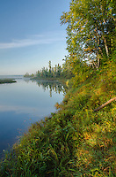 The inner bay/wetland complex at Big Bay Township Park host a variety of boreal plants, Madeline Island in the Apostle Island chain, Ashland County, Wisconsin