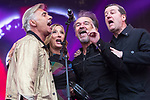 © Joel Goodman - 07973 332324. 06/08/2017 . Macclesfield , UK . GLEN MATLOCK, CLAUDIA BRUCKEN , OWEN PAUL and PETER HOOTON of the British Electric Foundation perform at The Rewind Festival , celebrating 1980s music and culture , at Capesthorne Hall in Siddington . Photo credit : Joel Goodman