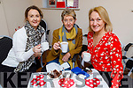 Enjoying the Valentine's Coffee Morning in aid of Palliative Care Unit at UHK in the Ardfert Community Centre on Friday.<br /> Seated l to r: Lorraine Nolan, Ann Tierney and Barbara O'Grady.