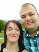 Pictured: Zoe Dewar with husband  Craig Dewar<br /> Re: A jealous husband who kidnapped a love rival in a 'carjacking' when he discovered he had a passionate affair with his social worker wife, is due to be sentenced by Newport Crown Court, Wales, UK.<br /> Craig Dewar was accused of abducting John Hawkins in Blaenavon after finding out Zoe Dewar had cheated on him behind his back with a work colleague.<br /> The complainant met while working together as community support workers for Blaenau Gwent Social Services.<br /> Craig Dewar, 34, followed Mr Hawkins, muscled his way into his van after overtaking him and slamming on the breaks, forcing him to stop sharply and blocking his path.