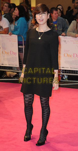 "Sally Hawkins.""One Day"" UK premiere, Vue Westfield cinema, Westfield Shopping Centre, London, England..August 23rd, 2011.full length black dress tights pattern.CAP/WIZ.© Wizard/Capital Pictures."