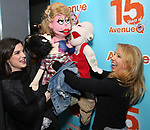 """Veronica J. Kuehn with Avenue Q & Puppetry Fans during """"Avenue Q"""" Celebrates World Puppetry Day at The New World Stages on 3/21/2019 in New York City."""