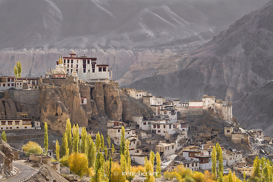 Autum morning in Lamayuru. Ladakh,Jammu and Kashmir,India