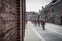 Peloton hitting in the city of Zwevegem for another 5 local laps. <br /> <br /> <br /> GP Marcel Kint 2018 <br /> Kortrijk > Zwevegem 174.8km (BELGIUM)