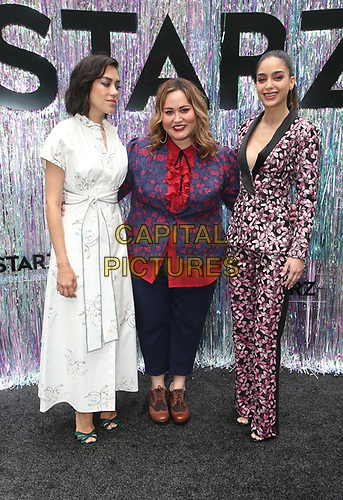 CENTURY CITY, CA - June 2: Mishel Prada, Tanya Saracho, Melissa Barrera, at Starz FYC 2019 — Where Creativity, Culture and Conversations Collide at The Atrium At Westfield Century City in Century City, California on June 2, 2019. <br /> CAP/MPIFS<br /> ©MPIFS/Capital Pictures