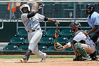 5 June 2010:  FIU's Pablo Bermudez (12) bats in the fifth inning as the Dartmouth Green Wave defeated the FIU Golden Panthers, 15-9, in Game 3 of the 2010 NCAA Coral Gables Regional at Alex Rodriguez Park in Coral Gables, Florida.