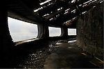 Inside decaying Buzludzha monument former communist party headquarters, Bulgaria