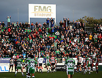 The team and crowd celebrate as Manawatu are awarded a penalty in the dying seconds of the match during the Air NZ Cup rugby match between Manawatu Turbos and Counties-Manukau Steelers at FMG Stadium, Palmerston North, New Zealand on Sunday, 2 August 2009. Photo: Dave Lintott / lintottphoto.co.nz