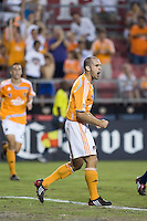 Houston Dynamo forward Brian Mullan (9) celebrates his goal in the 54th minute.  Houston Dynamo defeated Atlante FC 4-0  during the group stage of the Superliga 2008 tournament at Robertson Stadium in Houston, TX on July 12, 2008.