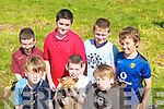PET: Children from Brandon and Cloghane at the Feile Lughnasa Festival in Cloghane on Sunday. Front l-r: Tadgh Kerin, Kevin Russell and Fergus Kerin. Back l-r: Fiachra O Grainne, Ian Maunsell, Timothy Moriarty and David O'Dowd..