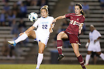 04 October 2012: UNC's Amber Brooks (22) and Boston College's Zoe Lombard (20). The University of North Carolina Tar Heels defeated the Boston College Eagles 1-0 at Fetzer Field in Chapel Hill, North Carolina in a 2012 NCAA Division I Women's Soccer game.