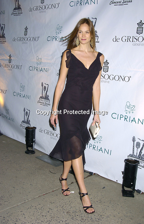 Ines Rivera..at The 2005 Wall Street Concert Series benefitting Wall Street Rising on March 15, 2005 at Cipriani. Rod Stewart was performing tonight. ..Photo by Robin Platzer, Twin Images