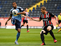 Alassane Plea (Borussia Moenchengladbach), Martin Hinteregger (Eintracht Frankfurt)<br />  - 16.05.2020, Fussball 1.Bundesliga, 26.Spieltag, Eintracht Frankfurt  - Borussia Moenchengladbach emspor, v.l. Stadionansicht / Ansicht / Arena / Stadion / Innenraum / Innen / Innenansicht / Videowall<br /> <br /> <br /> Foto: Jan Huebner/Pool VIA Marc Schüler/Sportpics.de<br /> <br /> Nur für journalistische Zwecke. Only for editorial use. (DFL/DFB REGULATIONS PROHIBIT ANY USE OF PHOTOGRAPHS as IMAGE SEQUENCES and/or QUASI-VIDEO)