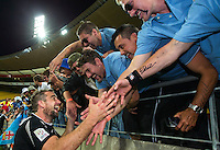 Kurt Baker thanks fans after the New Zealand All Blacks Sevens cup final victory on Day Two during the 2016 HSBC Wellington Sevens at Westpac Stadium, Wellington, New Zealand on Sunday, 31 January 2016. Photo: Joseph Johnson / lintottphoto.co.nz