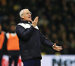 Leicester City's Claudio Ranieri in action<br /> - English Premier League - Watford vs Leicester City  - Vicarage Road - London - England - 5th March 2016 - Pic David Klein/Sportimage