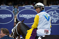 DEL MAR, CA - NOVEMBER 03: John Velazquez, aboard Forever Unbridled #6 after winning the Longines Breeders Cup Distaff on Day 1 of the 2017 Breeders' Cup World Championships at Del Mar Thoroughbred Club on November 3, 2017 in Del Mar, California. (Photo by Jamey Price/Eclipse Sportswire/Breeders Cup)