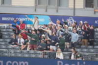 Despite the inclement weather, some of the crowd were in boisterous mood during South Africa vs West Indies, ICC World Cup Warm-Up Match Cricket at the Bristol County Ground on 26th May 2019