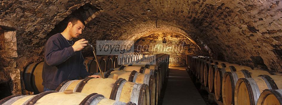 Europe/France/Bourgogne/89/Yonne/Chablis: cave de la Providence de Benoit Droin vigneron - AOC Chablis - Dégustation au chai