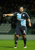 Sam Wood of Wycombe Wanderers during the Sky Bet League 2 match between Yeovil Town and Wycombe Wanderers at Huish Park, Yeovil, England on 24 November 2015. Photo by Andy Rowland.