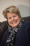 Sandy Toksvig visits the Cottage Family Centre, Kirkcaldy. 16 Mar 2018. Credit: Photo by Tina Norris. Copyright photograph by Tina Norris. Not to be archived and reproduced without prior permission and payment. Contact Tina on 07775 593 830 info@tinanorris.co.uk  All print sales: Tina Norris<br /> www.tinanorris.co.uk