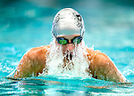 Pepperwood's Davis Handley competes in the 100 yard IM race during the 53rd annual Country Club Swimming Championships on Tuesday, Aug. 7, 2012, in Kearns, Utah. (© 2012 Douglas C. Pizac)