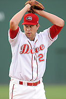 Pitcher Brian Johnson (28) of the Greenville Drive pitches in his debut against the Lexington Legends on Monday, August 19, 2013, at Fluor Field at the West End in Greenville, South Carolina. Johnson was selected by the Boston Red Sox in the 1st Round (31st overall) in the 2012 First-Year Player Draft out of the University of Florida. Johnson is the No. 15 prospect for the Boston Red Sox, according to Baseball America. (Tom Priddy/Four Seam Images)