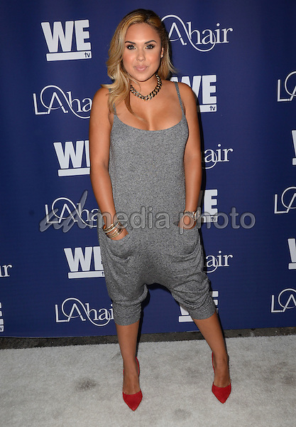 "14 July 2015 - Hollywood, California - Kristina DeBarge. Arrivals for WE Tv's ""L.A. Hair"" premiere party held at Avalon Hollywood. Photo Credit: Birdie Thompson/AdMedia"