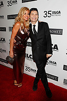 LOS ANGELES - OCT 19:  Donna D'Errico, Corey Feldman at the Last Chance for Animals' 35th Anniversary Gala at the Beverly Hilton Hotel on October 19, 2019 in Beverly Hills, CA